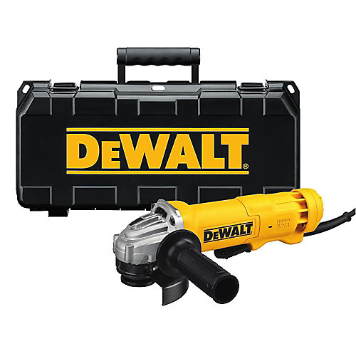 120V 4 1/2-inch Corded Angle Grinder with Quick Change Wheel Release and Case