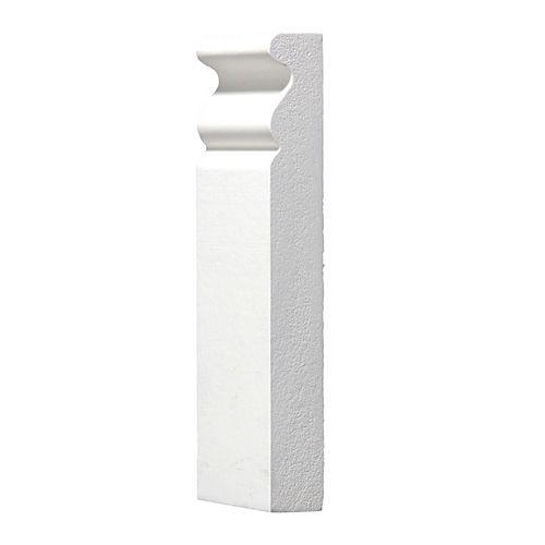 Alexandria Moulding 3/4-inch x 2 1/2-inch x 6-inch MDF Primed Plinth Block Moulding