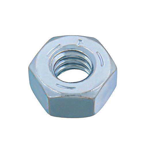 Écrou hexagonal 1/4 po-20 fini - plaqué zinc - Grade 5 - UNC
