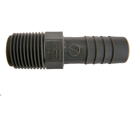 Poly Male Adapter - 1/2 Inch Mpt X 1/2 Inch Insert