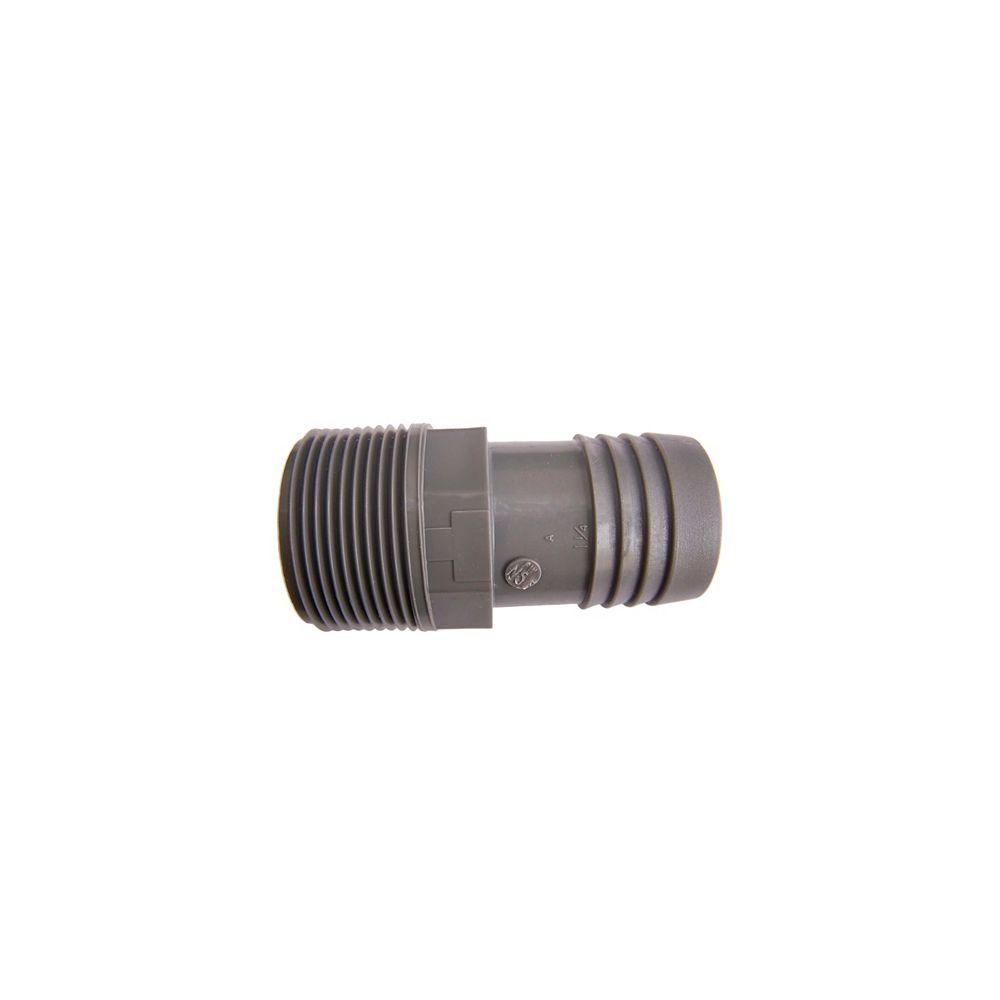 Pro-Connect Adaptateur Mâle Insertion En Poly- 1 1/4 Pouce X 1 1/4 Pouce Ins
