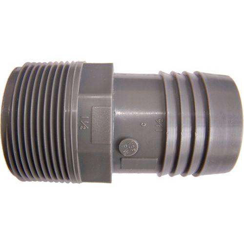 Pro-Connect Adaptateur Mâle Insertion En Poly-1 1/2 Pouce Mpt X  1 1/2 Pouces Ins