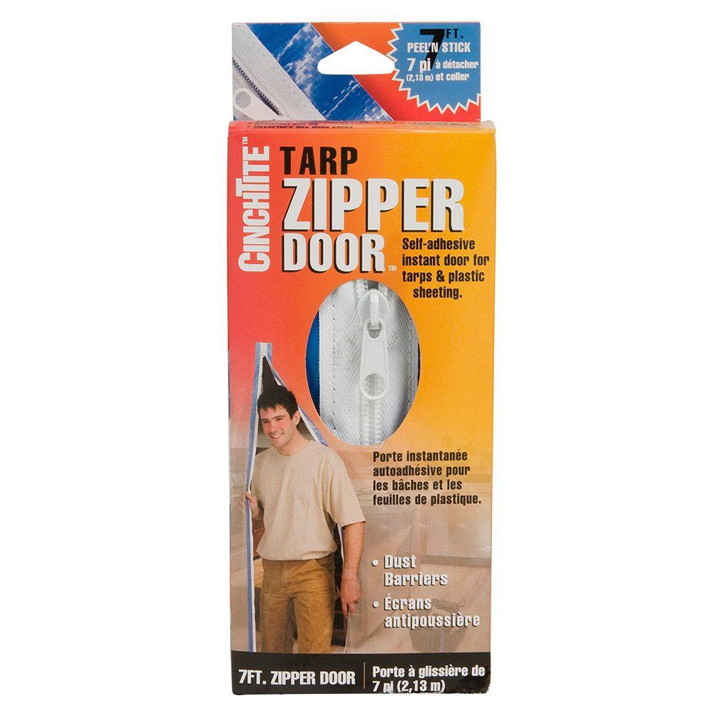 Homax CinchTite 7-ft. Tarp Zipper Door-7970