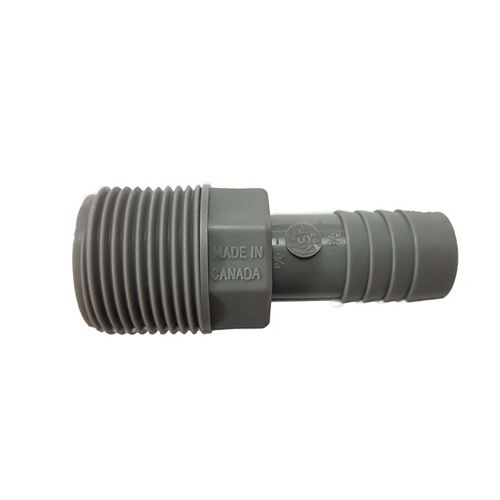 Pro-Connect Poly Reducing Male Adapter - 1 Inch Mpt X 3/4 Inch Reducing Insert