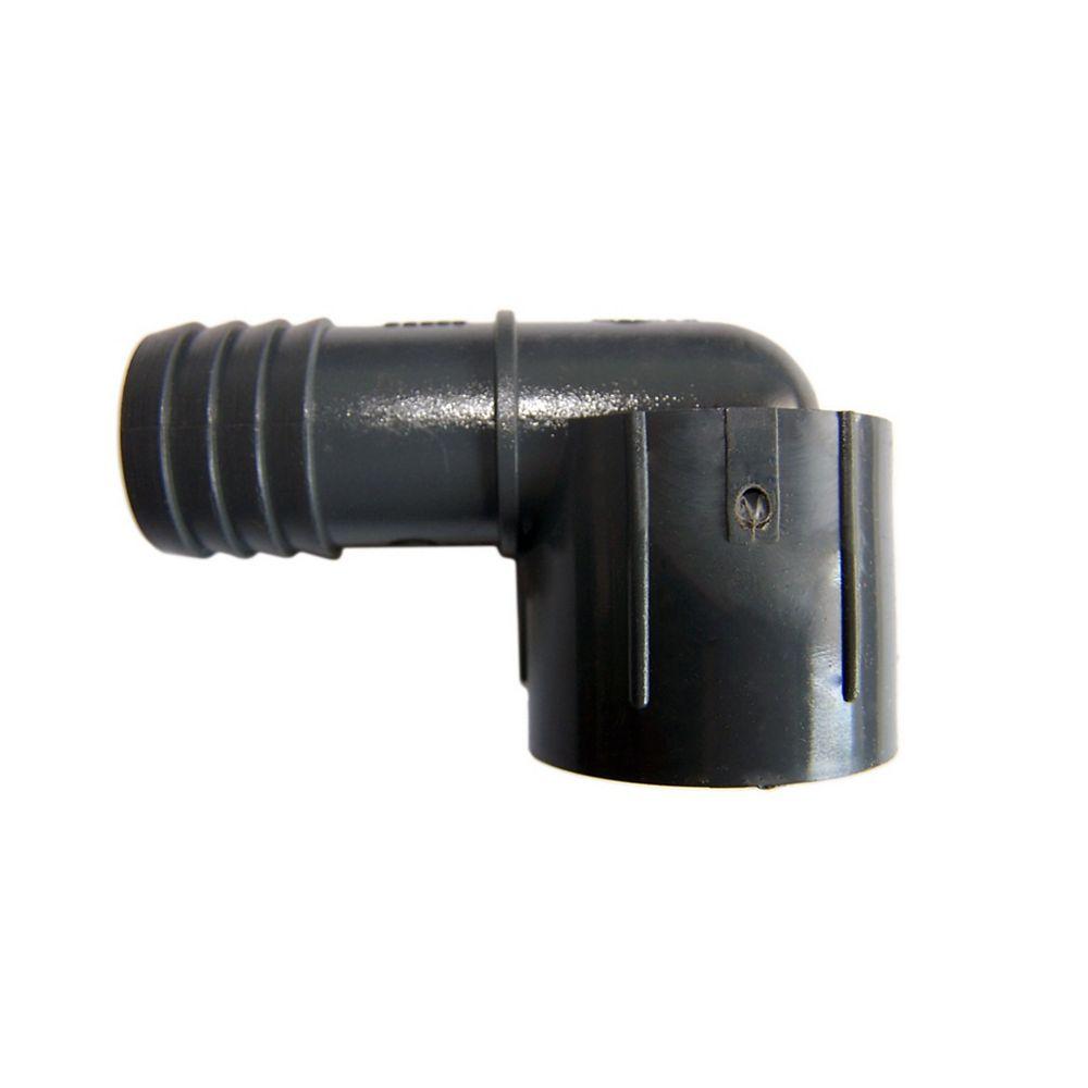 Pro-Connect Coude Femelle Réduit En Pvc - 1 Pouce Ins X 3/4 Pouce Fpt