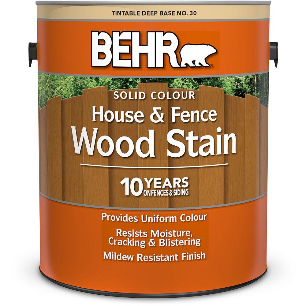 BEHR teinture pour bois de couleur opaque - Maisons et clôtures - Base foncée no 30, 3,79 L
