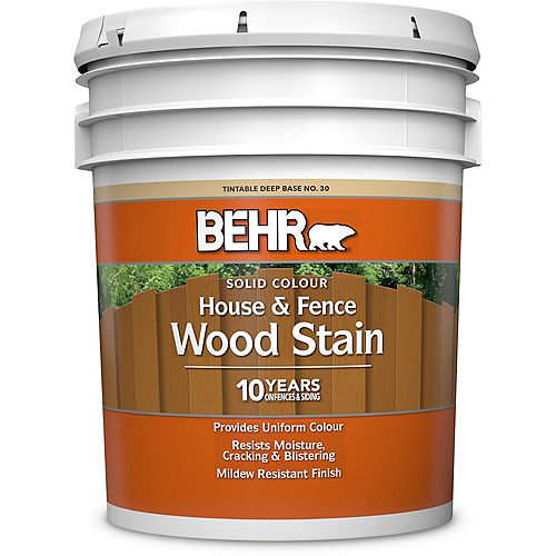 Solid Colour House & Fence Wood Stain - Deep Base No. 30, 18.9 L