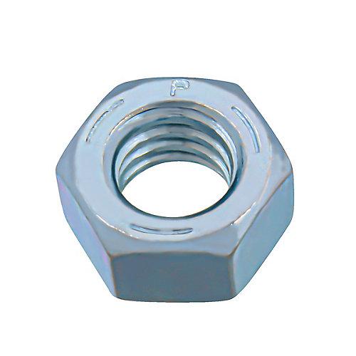 Écrou hexagonal fini 5/16 po-18 - zingué - Grade 5 - UNC