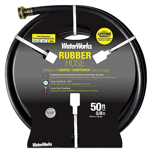 5/8-inch x 50 ft. Rubber Hose