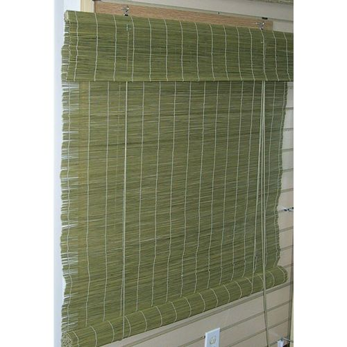 Matchstick Bamboo Roll - Up Blinds With 6 In.attached Valance 60 In. x 72 In. Col. Willow