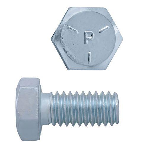 Vis à tête hexagonale de 5/16 po x 3/4 po - zinguée - qualité 5 - UNC
