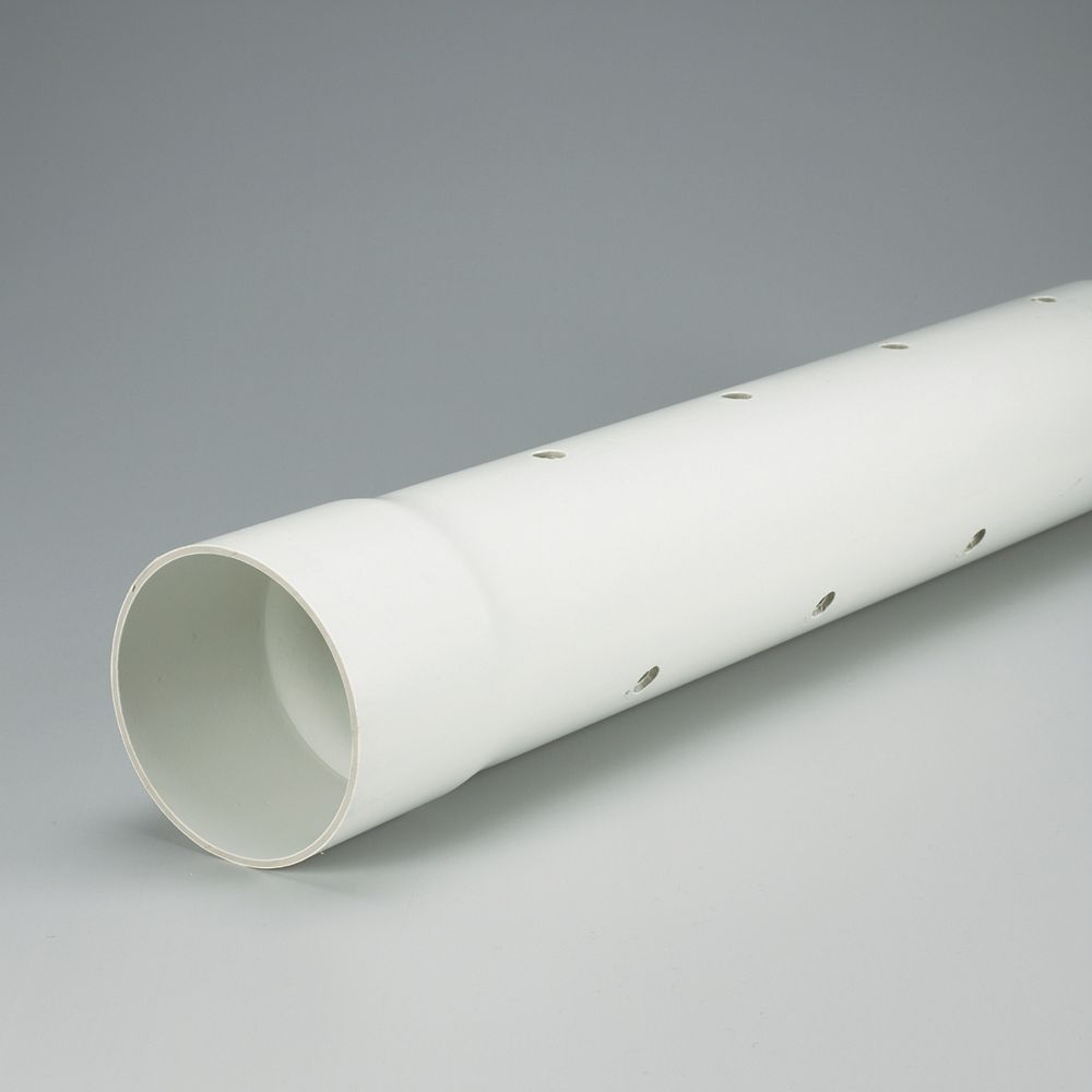 IPEX HomeRite Products PVC 4 inches x 10 ft PERFORATED SEWER PIPE - Ecolotube