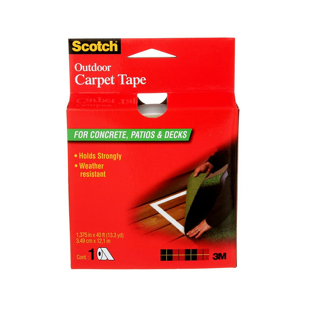 Scotch Outdoor Carpet Tape Ct3010, How To Adhere Outdoor Carpet Concrete