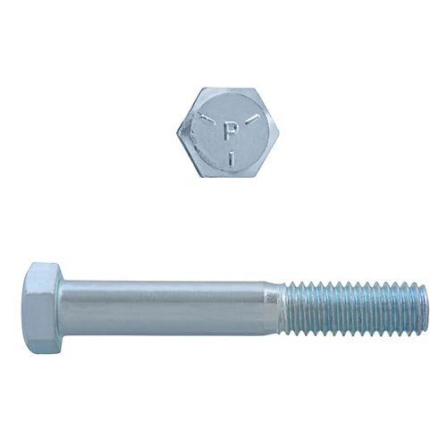 3/8-inch x 2-1/2-inch Hex Head Cap Screw - Zinc Plated - Grade 5 - UNC