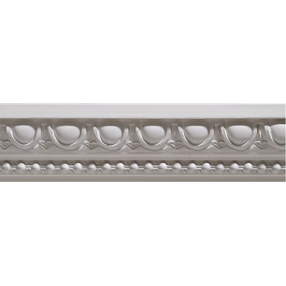 Ornamental Mouldings Primed Finger Joint Egg & Dart Chair Rail 27/32 x 1-15/16 - Sold Per 8 Foot Piece