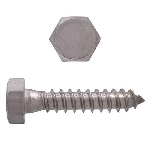 5/16 po x 1 1/2 po Boulon à tête hexagonale en acier inoxydable 18,8 po à tête hexagonale en acier inoxydable