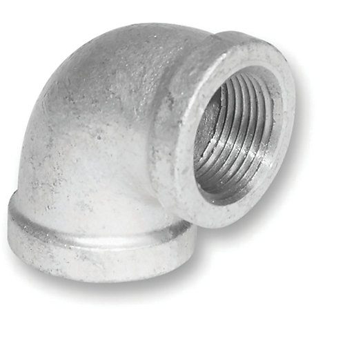 Raccord à fonte galvanisée en forme de coude, 90 degrés, 3/8 po