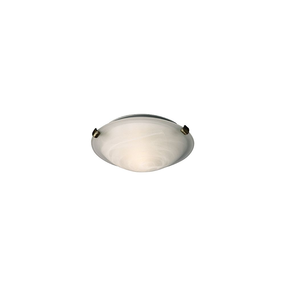12-Light Pewter Clip Flushmount Ceiling Light with Marbled Glass Shade