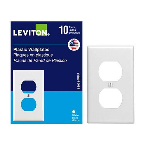 Plaques Pour Une Prise Double (10x), Blanc
