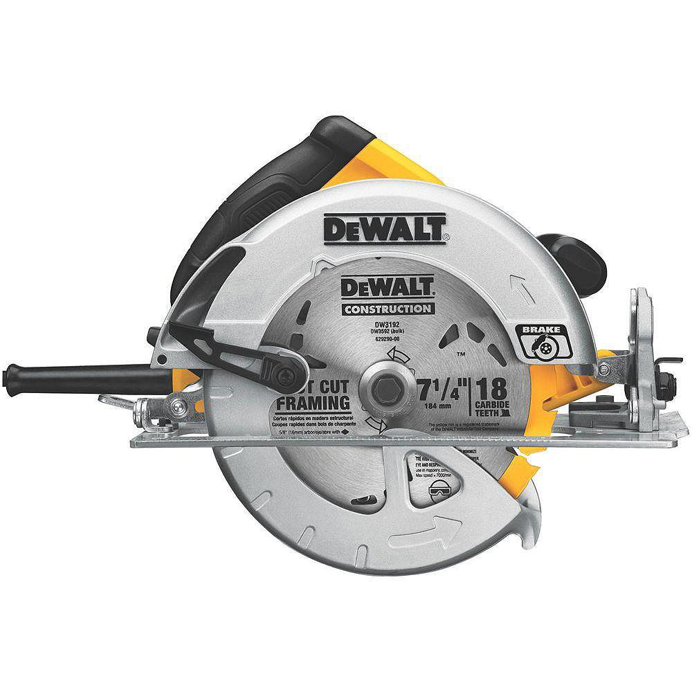 DEWALT 15 Amp 7-1/4-inch Lightweight Circular Saw with Electric Brake
