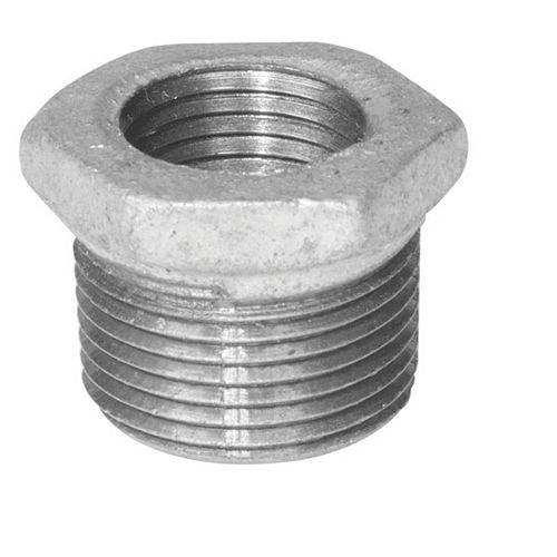 Aqua-Dynamic Raccord Fonte Galvanisée Douille Hexagonale 1/2 Pouce x 3/8 Pouce