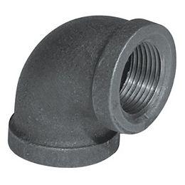 Fitting Black Iron 90 Degree Elbow 3/4 Inch