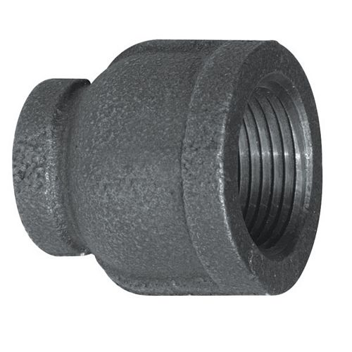 Fitting Black Iron Reducer Coupling 1/2 Inch x 3/8 Inch