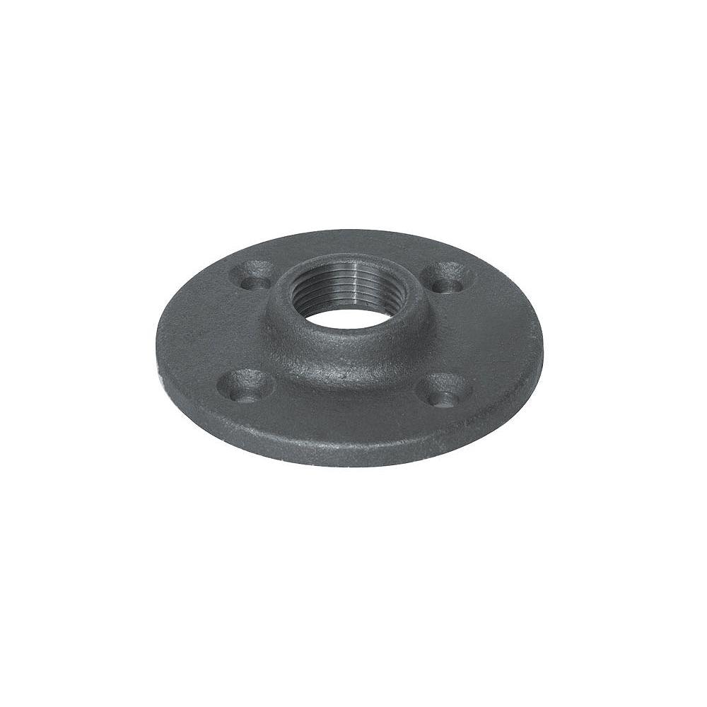 STZ Fitting Black Iron Floor Flange 1/2 Inch