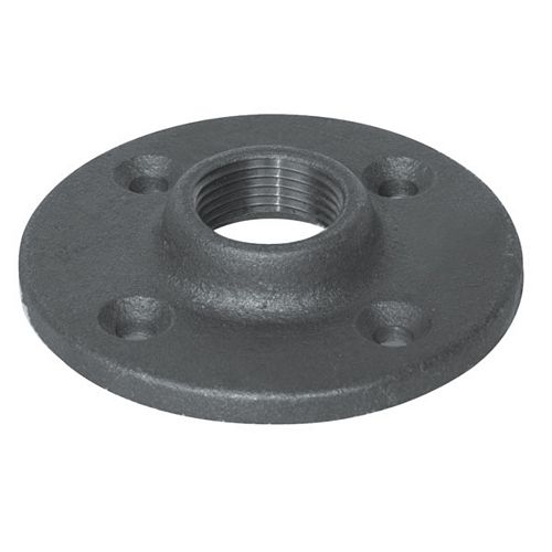Aqua-Dynamic Fitting Black Iron Floor Flange 3/4 Inch