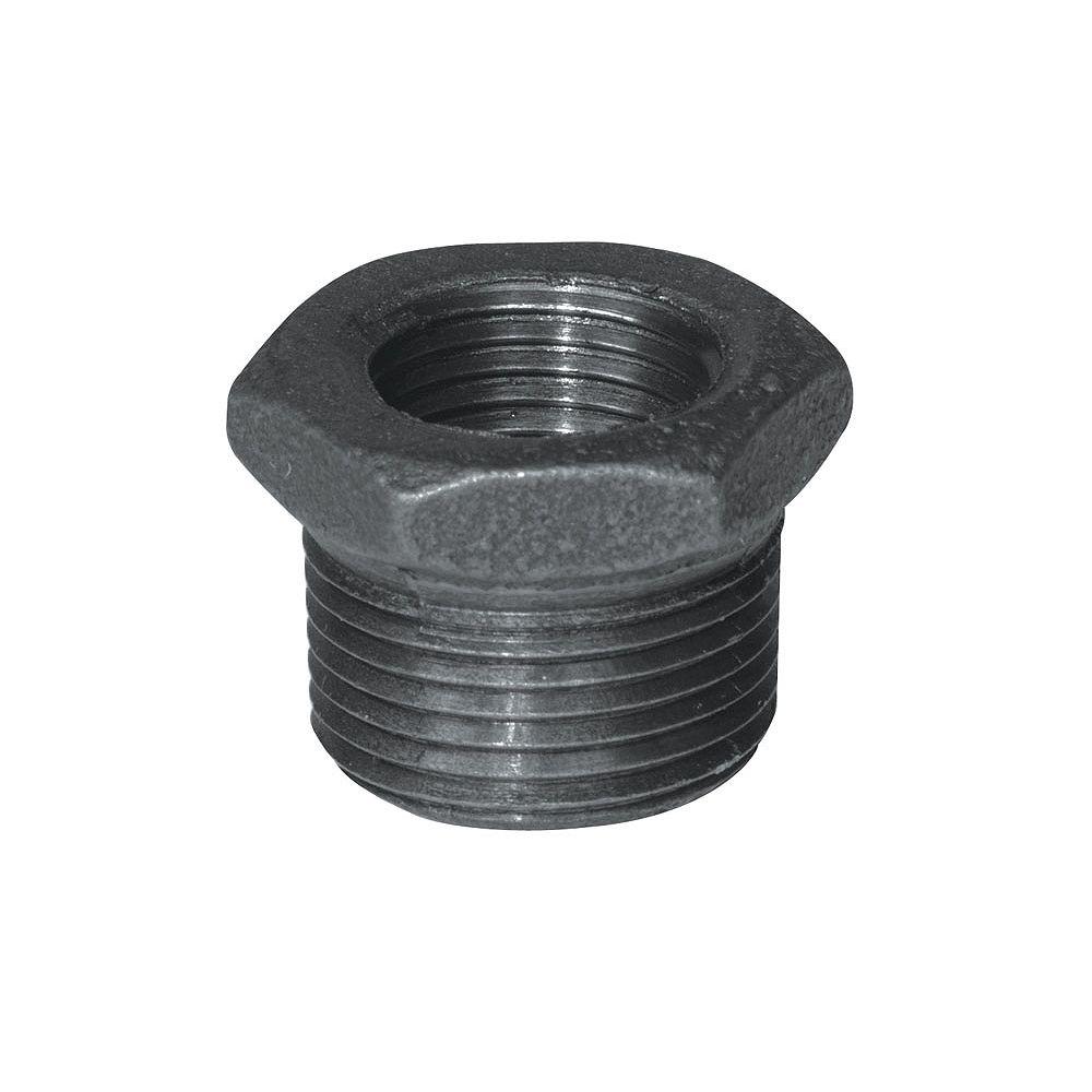 Aqua-Dynamic Raccord Fonte Noire Douille Hexagonale 1 Pouce x 1/2 Pouce