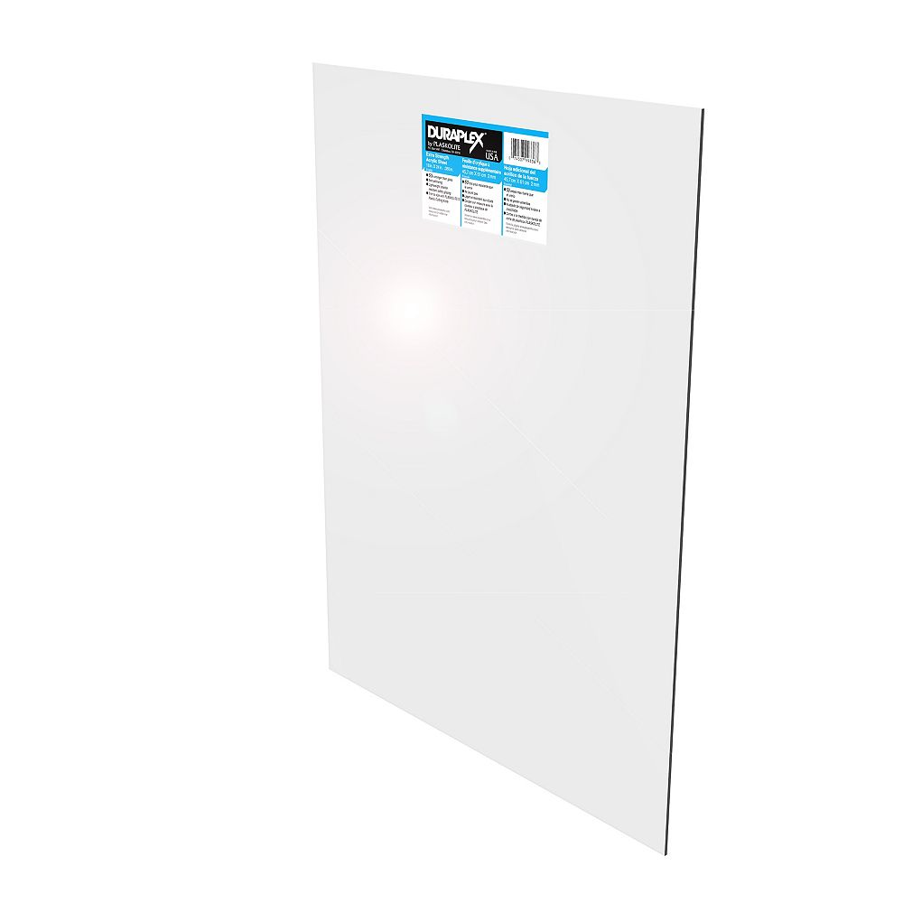 Duraplex High Impact Acrylic Sheet - .093 Inch x 8 Inch x 10 Inch