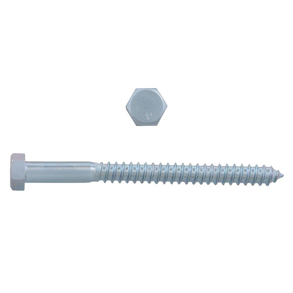Paulin 1/2-inch x 6-inch Hex Head Lag Bolt - Zinc Plated