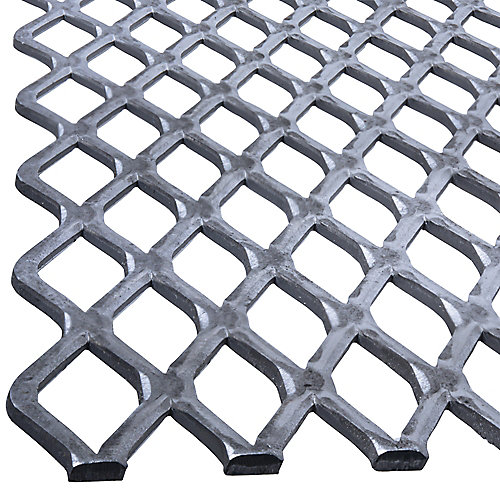 24 x 24 x 1/2-inch Expanded Steel Sheet