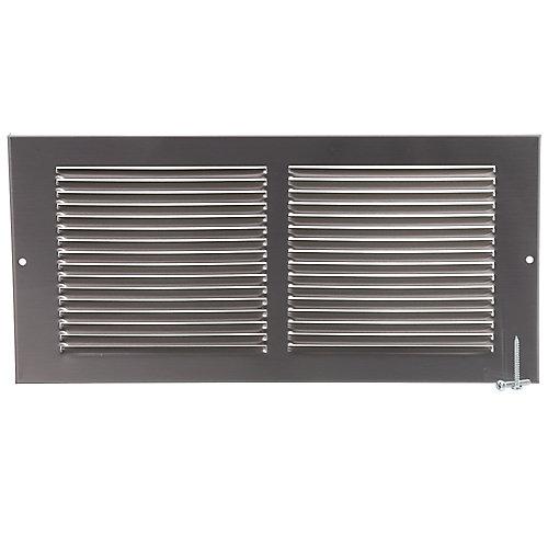 14 inch x 6 inch Sidewall Grille - Pewter