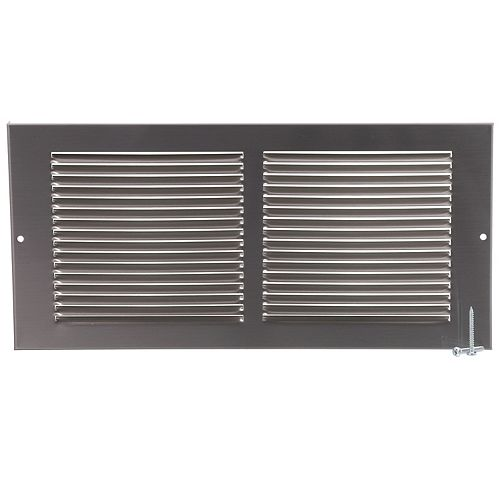 HDX 14 inch x 6 inch Sidewall Grille - Pewter