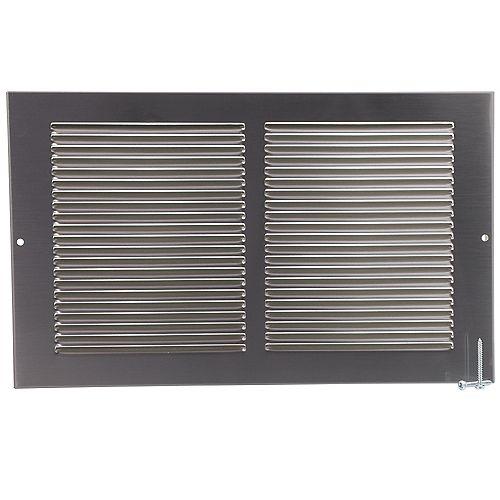 HDX 14 inch x 8 inch Sidewall Grille - Pewter