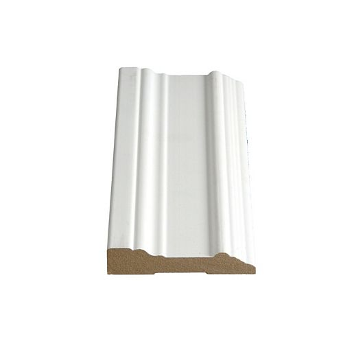 Alexandria Moulding 3/4-inch x 3 1/2-inch x 96-inch Colonial LDF Primed Fibreboard Casing