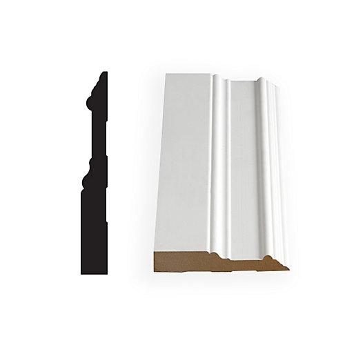 5/8-inch x 5-inch x 96-inch Colonial Primed Fibreboard Baseboard Moulding