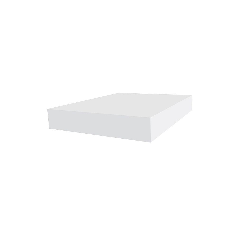 Veranda 1-inch x 6-inch White Vinyl Trimplank Moulding