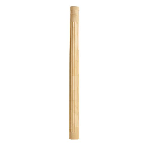 Finger Jointed Pine Fluted Column 8 Inch x 8 Inch x 8 Feet