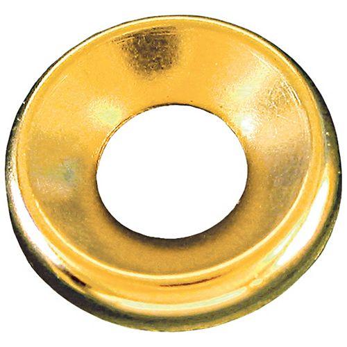 1/4-inch Brass Finishing Washers-Countersunk Standard Type