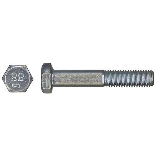 M6-1.00 x 20mm Class 8.8 Metric Hex Cap Screw - DIN 933 - Zinc Plated