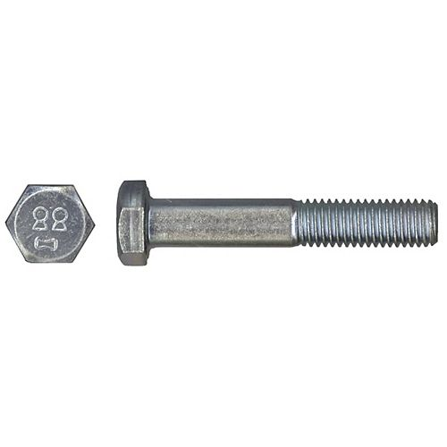 M6-1.00 x 25mm Class 8.8 Metric Hex Cap Screw - DIN 933 - Zinc Plated
