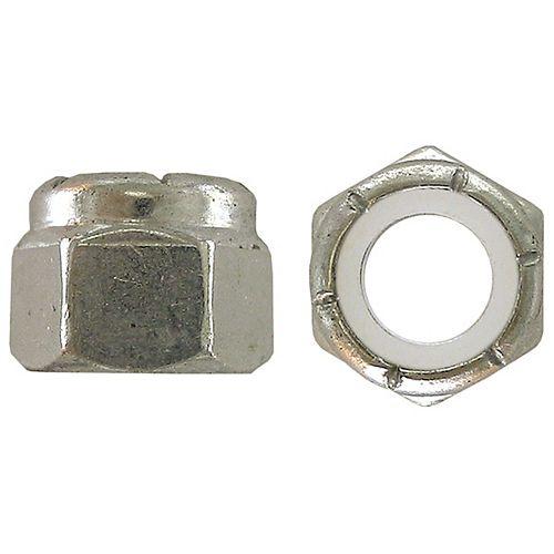 M4-0.70 Metric Pozi-Lok-Nylon Insert Stop Nut - Zinc Plated