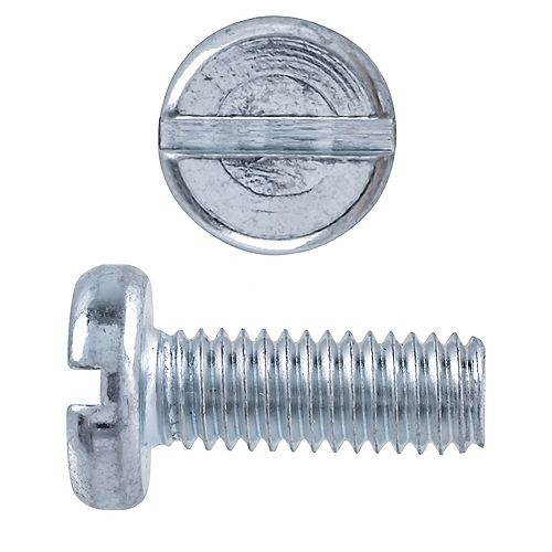 Paulin M4 x 12mm Metric Pan Head Slot Machine Screw Zinc Plaqué