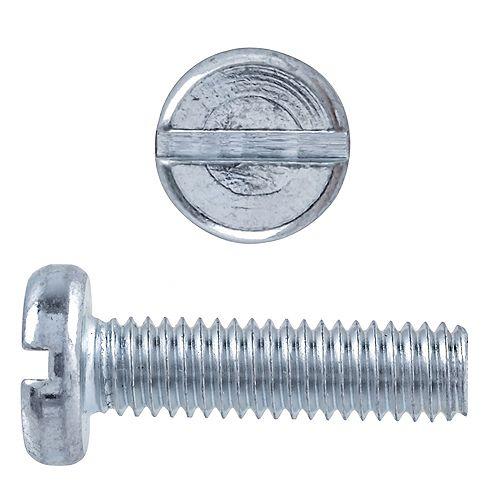 Paulin M5 x 16mm Metric Pan Head Slot Machine Screw Zinc Plated