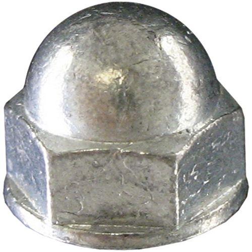 Écrou hexagonal 1/4 po-20 en acier au maïs (capuchon) - zingué