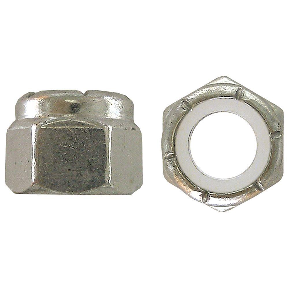 Paulin 6-32 Nylon Insert Stop Nut - Pozi-Lok - Zinc Plated - UNC