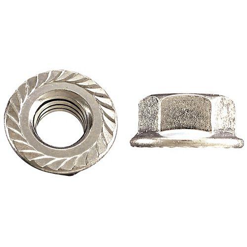 5/16-inch-18 Flange Nut-Tensilock-Hardened - Zinc plaqué