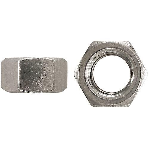 Écrou hexagonal en acier 1/4 po-20 - plaqué zinc